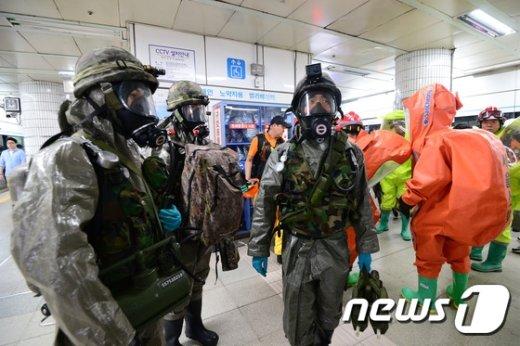[사진]'테러 대비훈련 준비 완료'