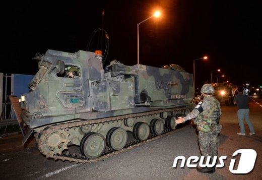 [사진]'대규모 미군 병력 통일대교로'