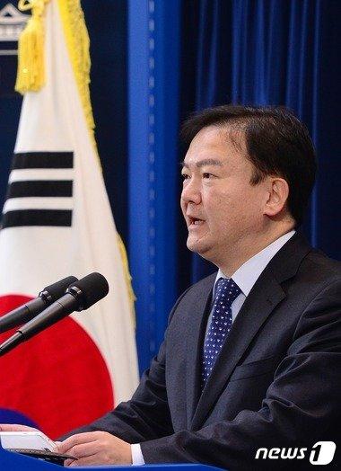 민경욱 청와대 대변인. © News1