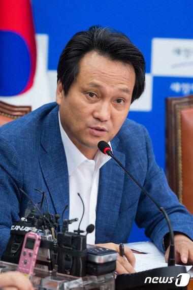 국회 예산결산특별위원회 야당 간사인 안민석 새정치민주연합 의원.© News1