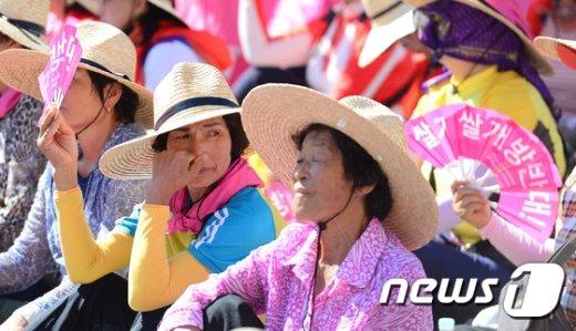 [사진]'쌀개방 반대한다!'
