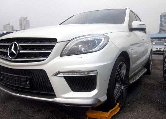 서울중앙지법에서 경매 진행될 예정인 '벤츠 M클래스 AMG' 차량 모습. / 사진제공=대법원