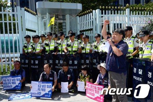 [사진]노사정위 앞 외침