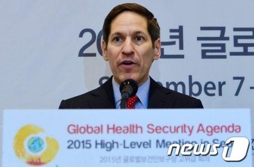 글로벌보건안보구성 고위급 회의 참석차 방한한 토마스 프리든 미국 질병통제예방센터(CDC) 센터장./뉴스1 © News1 손형주 기자