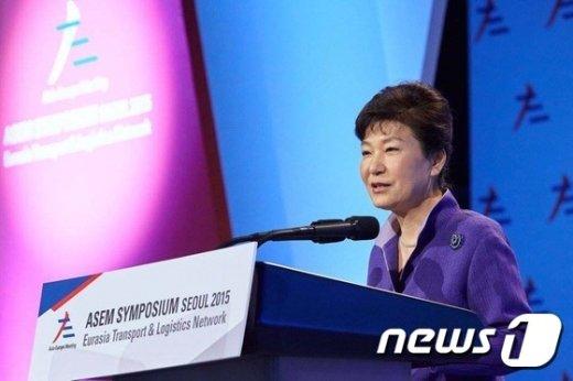 [사진]축사하는 박 대통령