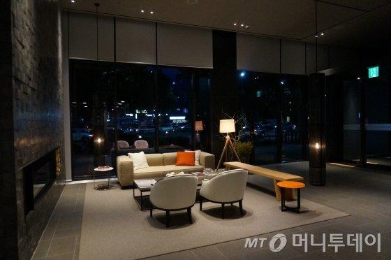 신라스테이마포 1층 로비/사진=이지혜 기자
