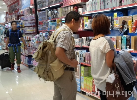 일본 도쿄 신주쿠역 인근 빅카메라(BIC CAMERA) 쇼핑몰 지하1층/사진=김유경 기자