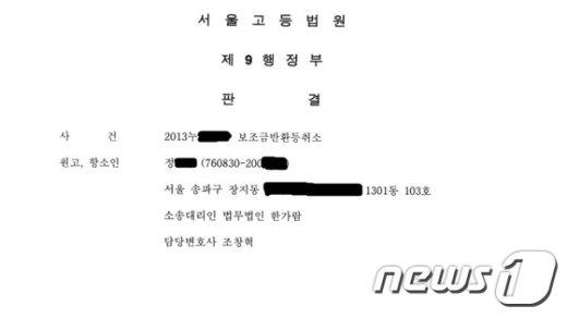 서울시 정보소통광장에 올라온 정모씨의 판결문. 주민등록번호와 집주소가 그대로 노출돼 있다. © News1