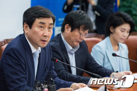 [사진]국정감사 대책회의 주재하는 이종걸 원내대표