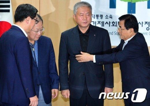 [사진]노사정 대표 4인 '같이 갑시다'