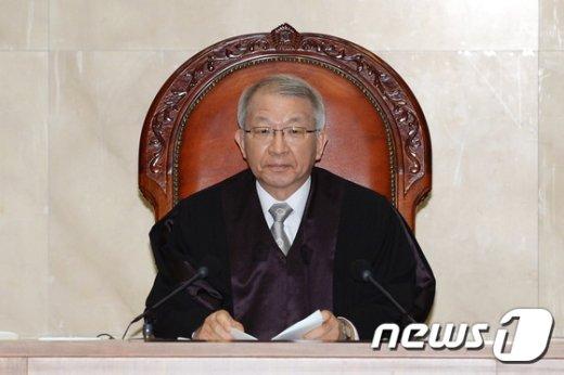 [사진]양승태 대법원장 '유책주의 판례 유지'