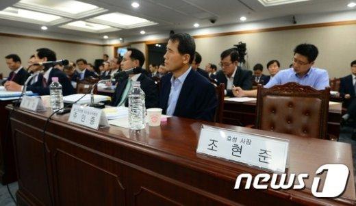 [사진]조현준 효성 사장, 국감 증인 불출석