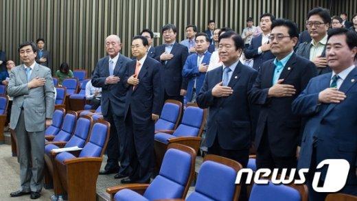 [사진]새정치연합 '당대표를 어쩌나'