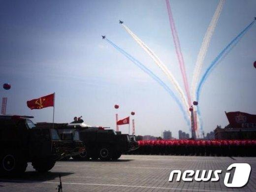 지난 2013년 7월 진행된 북한 열병식 행사 모습./뉴스1 © News1