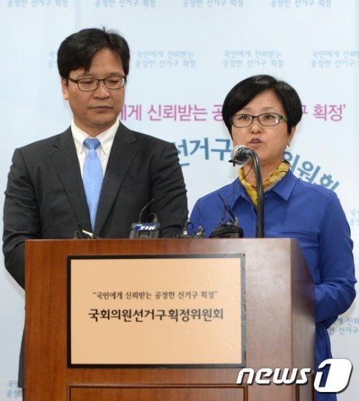 [사진]선거구 획정위, 국회의원선거구수 전체회의 브리핑