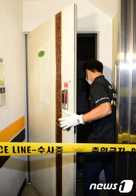 [사진]일가족 3명 숨진 채 발견된 내발산동 가정집 현장