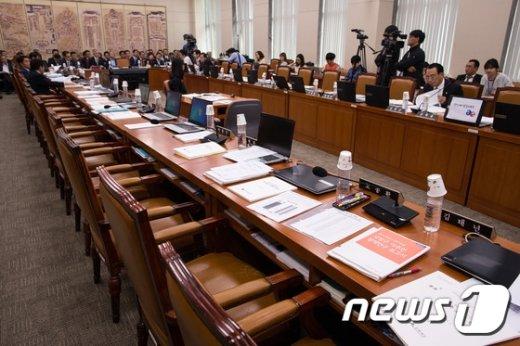 국회 교육문화체육관광위원회 국정감사장./뉴스1 © News1 유승관 기자