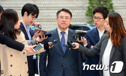 """[사진]오병주 변호사 """"진실 밝히기 위해 최선 다할 것"""""""