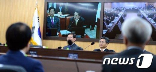 [사진]국회-세종청사 영상 국정감사 '헌정사 최초'