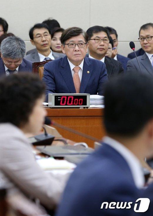[사진]국감 출석한 정진엽 장관