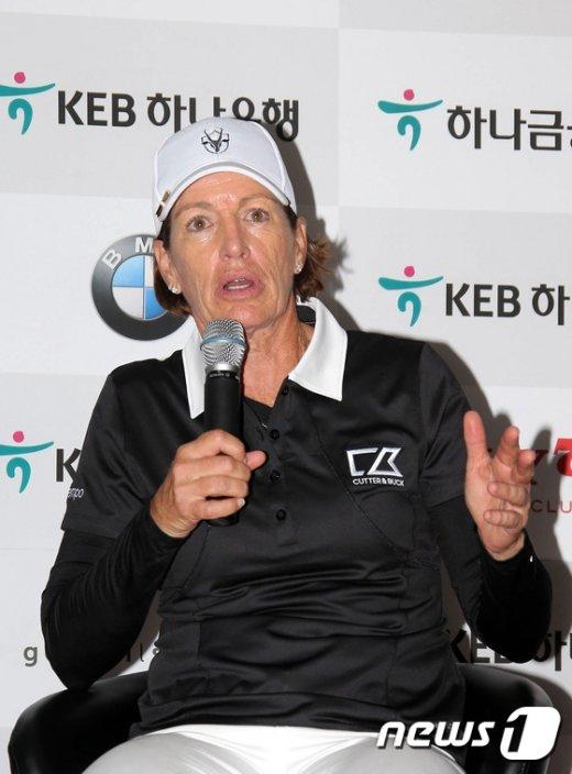 [사진]줄리잉스터 '골프위상 한국에서 경기 기대된다'