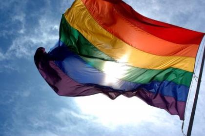 동성애자들의 정체성을 상징하는 무지개색 깃발