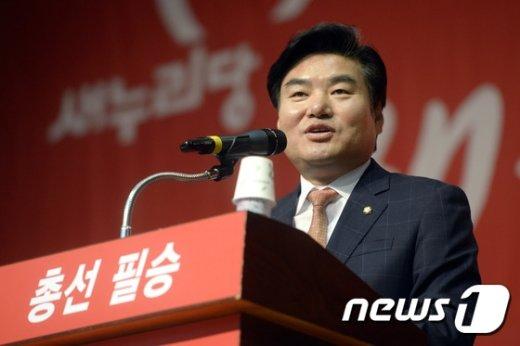 [사진]원유철, 서울 중구 당원전진대회 축사