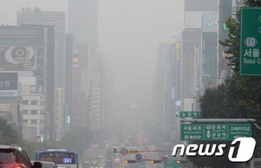 [사진]퇴근길 미세먼지 '나쁨'