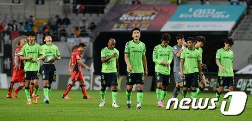 [사진]전북 현대 '우승이 코 앞인데'