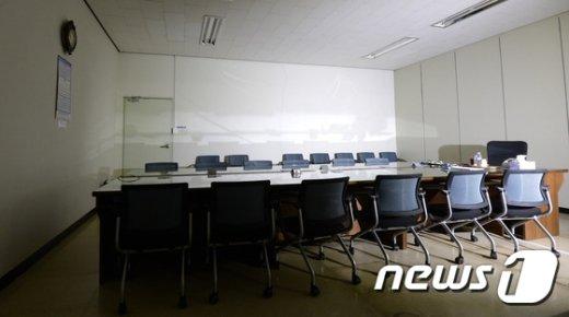 [사진]텅 빈 회의실