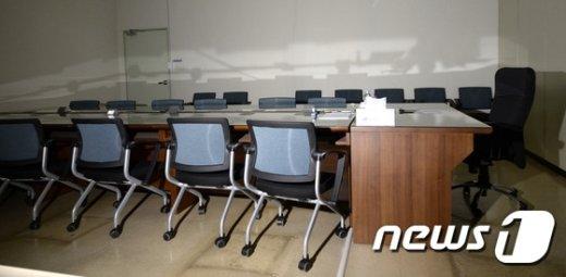 [사진]'이곳이 역사교과서 국정화 TF 회의실?'