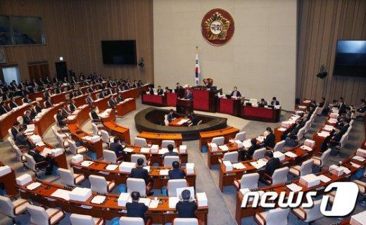 [사진]예결위, 386조 7천억 내년도 예산안 상정·심사 개시