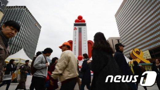 [사진]사랑의열매, 이웃돕기 모금캠페인 23일 시작