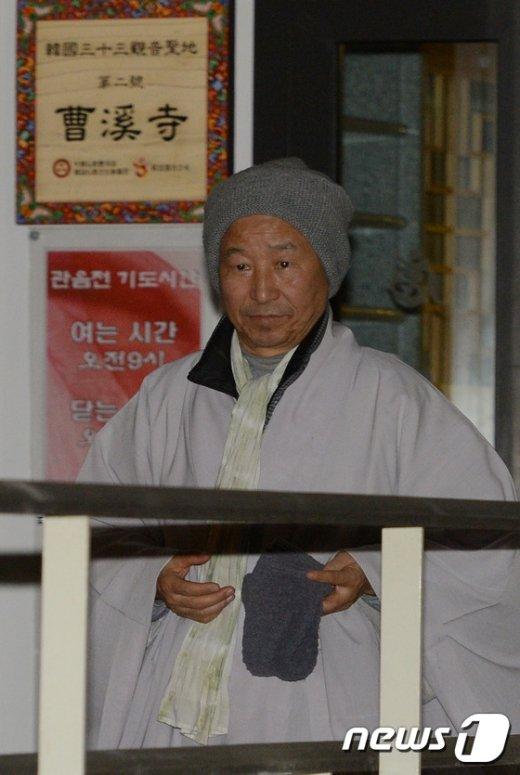 [사진]한상균 위원장 만나고 나온 도법스님