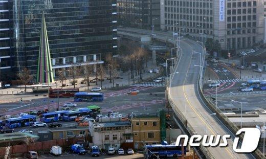 [사진]서울역 고가, 0시부로 폐쇄