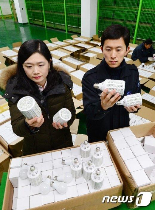 [사진]세관에 적발된 중국산 LED 조명