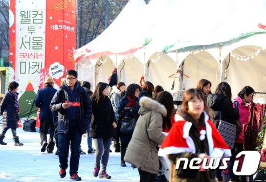 [사진]북적북적 '크리스마스 마켓'