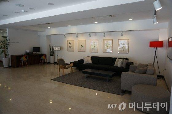 호텔포레 해운대점 1층 로비. /사진=이지혜 기자