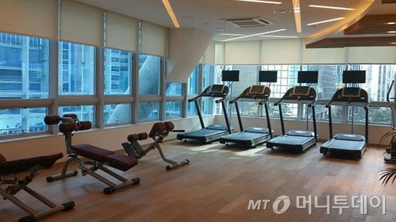 롯데시티호텔명동 3층 피트니스센터/사진=김유경기자