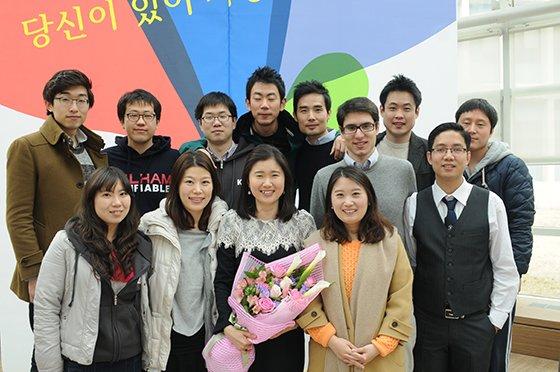 2013년 봄 카이스트 경영대학인으로 선정된 날 친구들과 함께. /사진제공=이보람