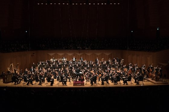 서울시립교향악단이 16일 예술의전당 콘서트홀에서 말러교향곡 6번을 연주하고 있다. /사진제공=서울시립교향악단