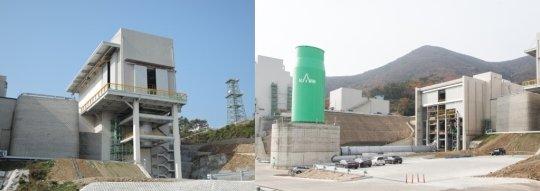 (왼쪽부터)엔진지상시험설비, 연소기 연소시험설비