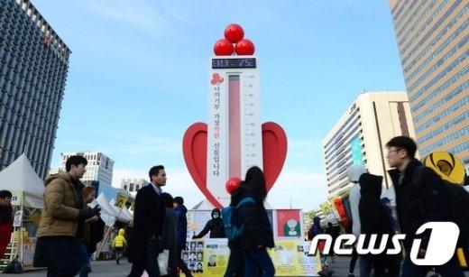 [사진]사랑의 온도탑 100도 채울까?