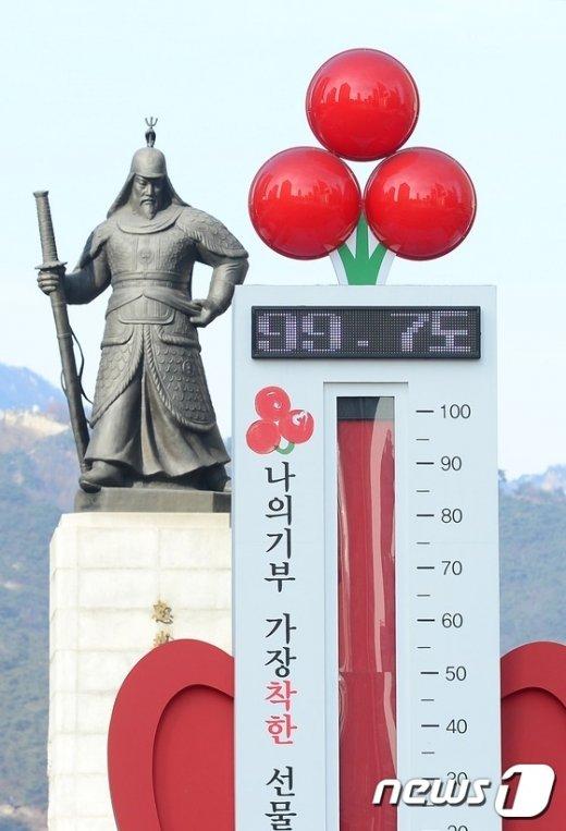 [사진]사랑의 온도탑 '99.7도'