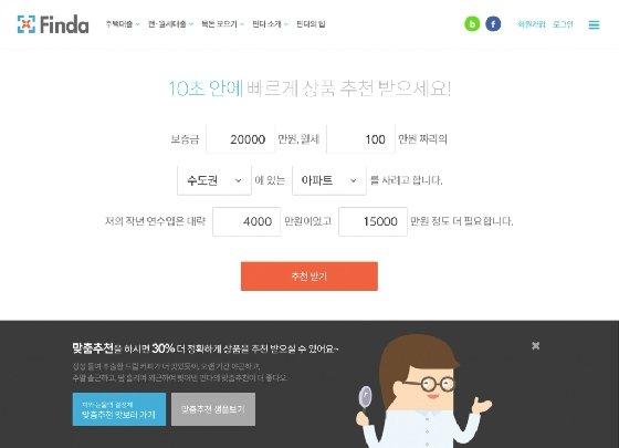 핀다 '전월세대출 추천' 서비스 이미지/사진=핀다 제공