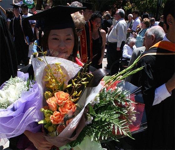 2007년 서던캘리포니아대학 졸업 당시./사진제공=이진