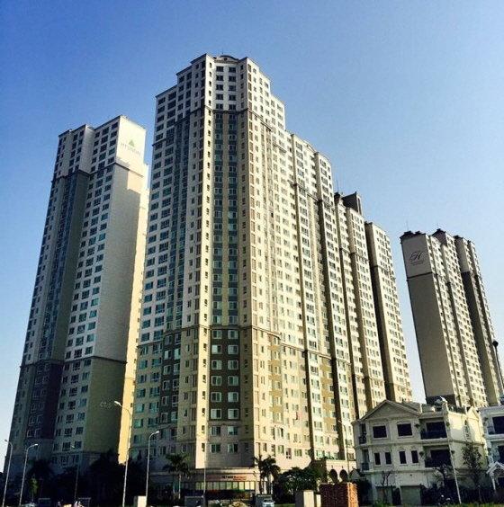 현대건설이 처음으로 해외에 '힐스테이' 브랜드를 사용한 베트남 하노이 하동 힐스테이 단지 모습. 총 928가구로 2015년 6월 준공 후 지난달 계약률 98%를 달성했다. /사진제공=현대건설