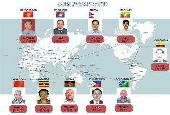 LH '해외도시개발지원센터' 상담국 현황 / 제공 = LH