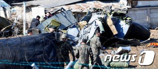 [사진]이륙훈련 중 군 헬기 추락