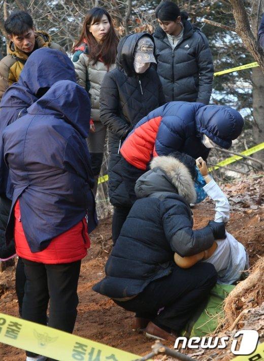 [사진]'광주 친딸 살해·암매장' 현장검증